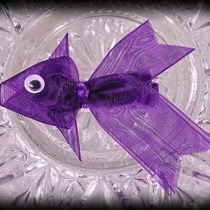 Purple Fancy Tails Fish Ribbon Sculpture Hair Clip