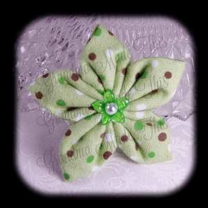 Kanzashi Flannel Star Hair Bow 1