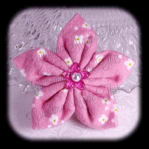 Kanzashi Flannel Star Hair Bow 4
