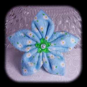 Kanzashi Flannel Star Hair Bow 9