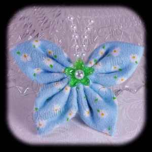 Kanzashi Flannel Butterfly Hair Bow 1