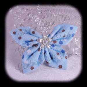 Kanzashi Flannel Butterfly Hair Bow 4