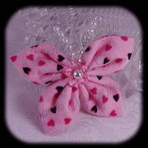 Kanzashi Flannel Butterfly Hair Bow 5
