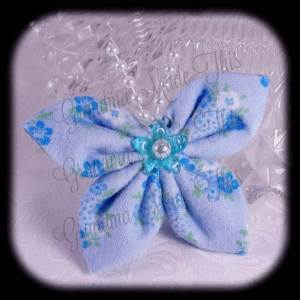 Kanzashi Flannel Butterfly Hair Bow 6