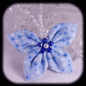 Kanzashi Flannel Butterfly Hair Bow 7