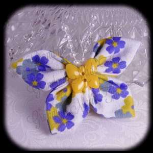 Kanzashi Flannel Butterfly Hair Bow 8