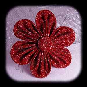 Kanzashi Flower Orchid Petals Up Hair Bow 5