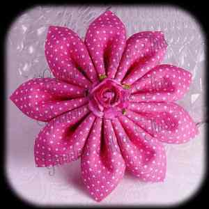 Kanzashi Flower Petals Down Hair Bow 18