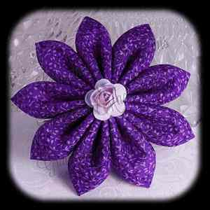 Kanzashi Flower Petals Down Hair Bow 21