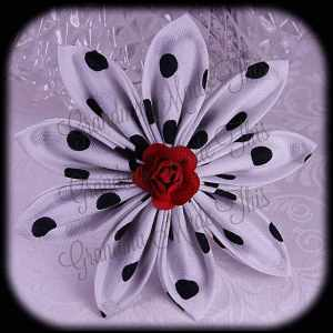 Kanzashi Flower Petals Up Hair Bow 18