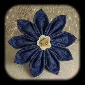 Kanzashi Flower Petals Up Hair Bow 2