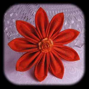 Kanzashi Flower Petals Up Hair Bow 4