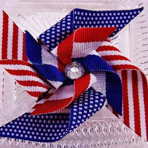 Large Pinwheel Hair Clips Patriotic July 4th