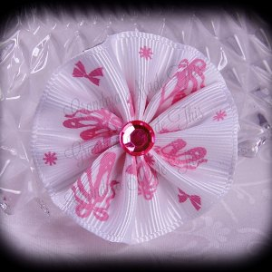 Medium Wavy Flower Hair Bow Princess