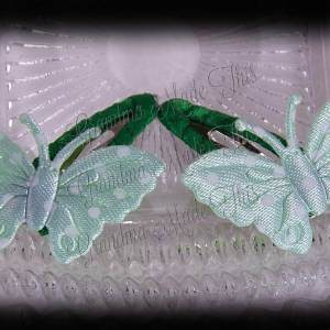 Pale Green Butterfly Snap Clippie Set