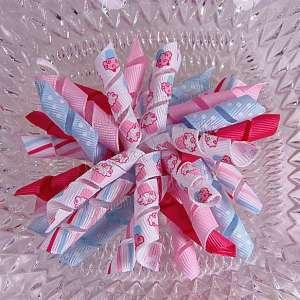Pink Blue Cupcakes 1 Korker Ribbon Bow