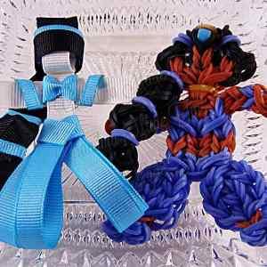 Princess Jasmine Ribbon Sculpture Hairclip Loom Doll Set Two