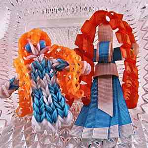 Princess Merida Ribbon Sculpture Hairclip Loom Doll Set