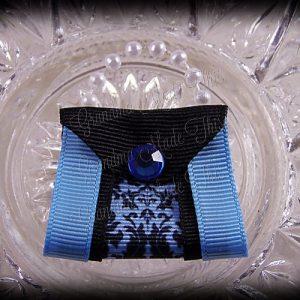 Purse Ribbon Sculpture Double Side Ribbon Blue Floral