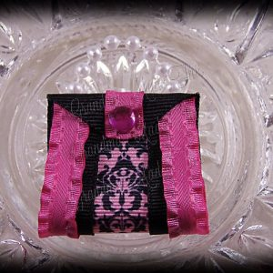 Purse Ribbon Sculpture Double Side Ribbon Pink Floral