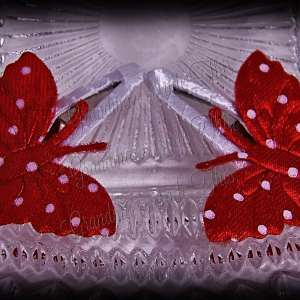 Red Butterfly Snap Clippie Set