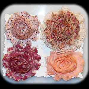 Shabby Chic Interchangeable Flower Set 6