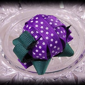 Turtle Ribbon Sculpture Purple White Polka Dots
