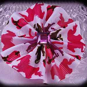 Large Wavy Flower Hair Bow 11