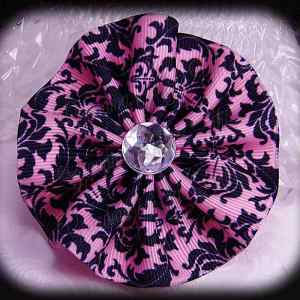 Large Wavy Flower Hair Bow 2