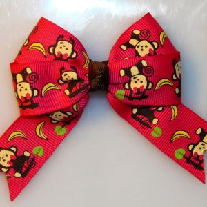 Animal Long Tail Quad Hair Bows