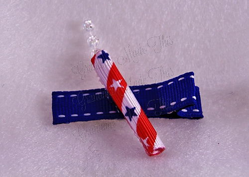 Patriotic Firecracker Hair Clip