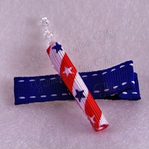 Patriotic Firecracker Hair Clip