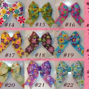 Flower Long Tail Quad HairBows