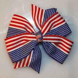 Patriotic Large Quad Pinwheel Hair Bows