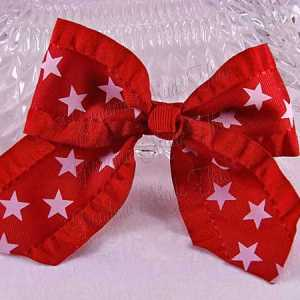 Patriotic Ruffle Ribbon HairBows