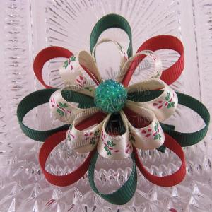 Christmas Loopy Ribbon Sculpture Bows