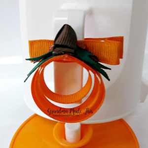 Halloween Pumpkin Ribbon Sculpture Hairclip