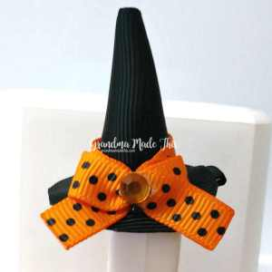 Halloween Witch Hat Ribbon Sculpture Hairclip