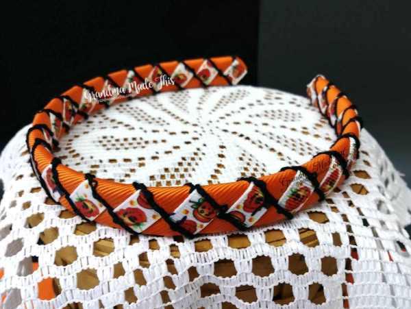 Halloween Pumpkin Woven Headbands B