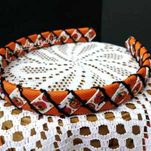 Halloween Pumpkin Woven Headbands