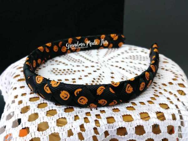 Halloween Child Woven Headband Pumpkins Galore