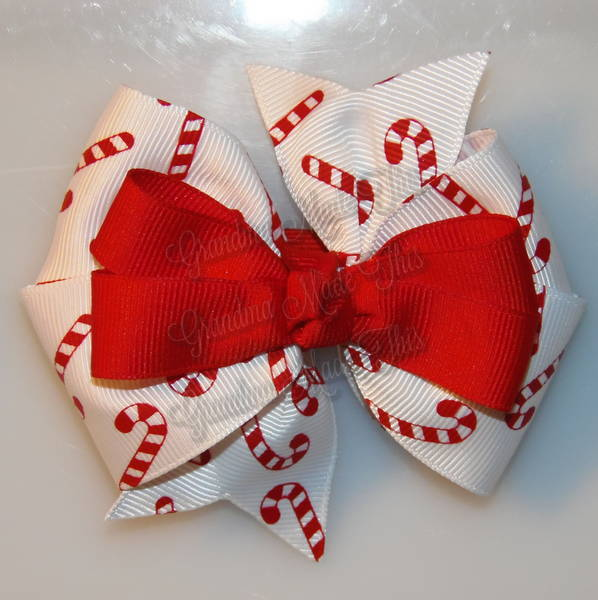Candy Canes Red Stacked Quad Pinwheel