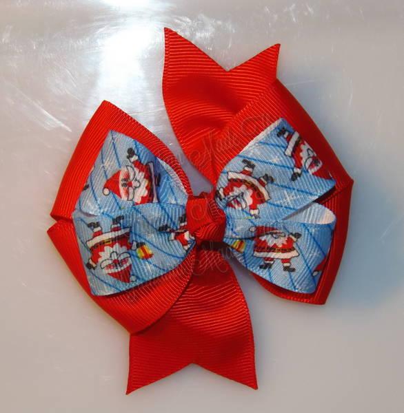 Jolly Santa Red Stacked Quad Pinwheel