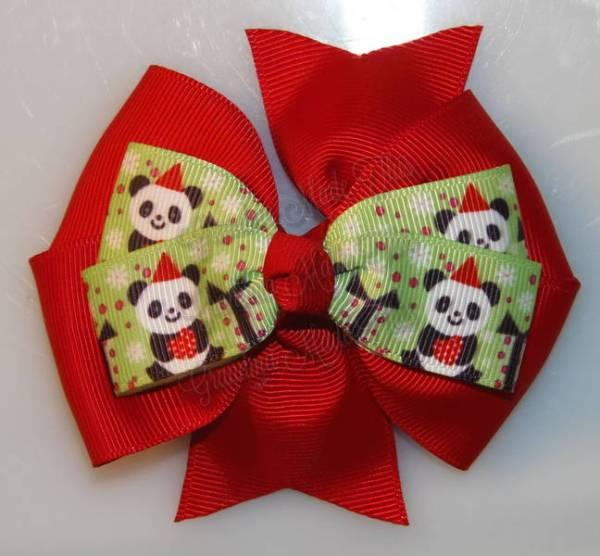 Panda Presents Red Stacked Quad Pinwheel