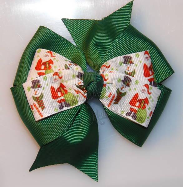 Santa Gifts Green Stacked Quad Pinwheel