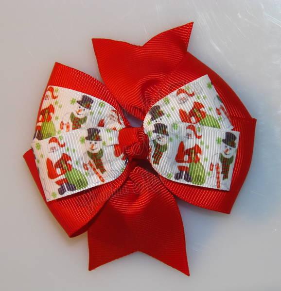 Santa Gifts Red Stacked Quad Pinwheel