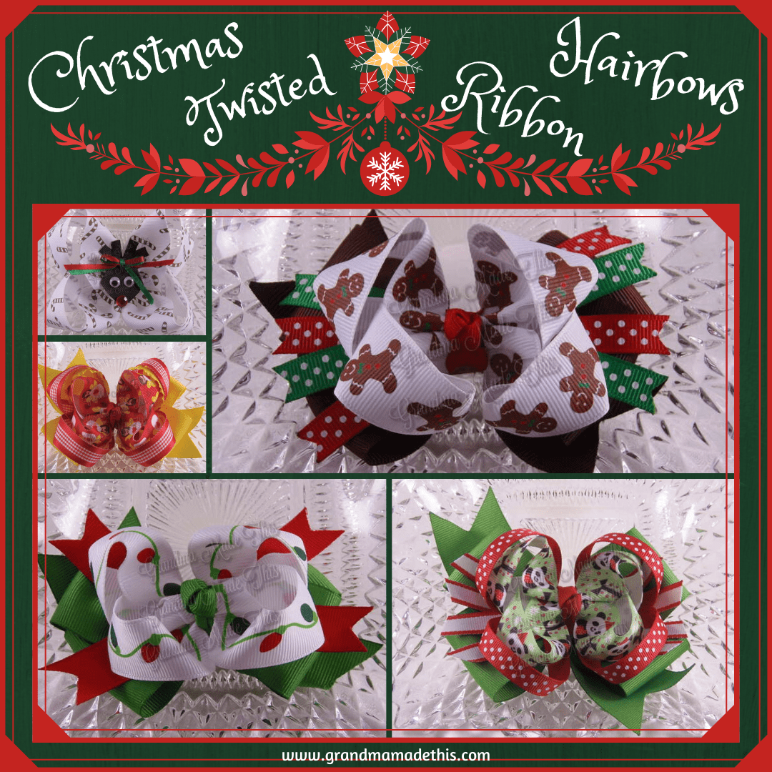 Christmas Twisted Ribbon