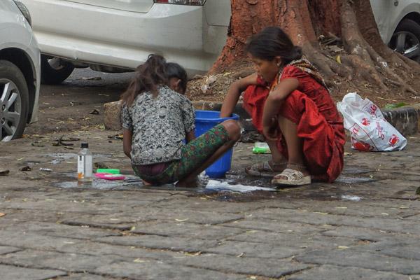 On the Street in Mumbai