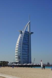 view of Burj al Arab hotel