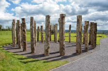recreated wood henge